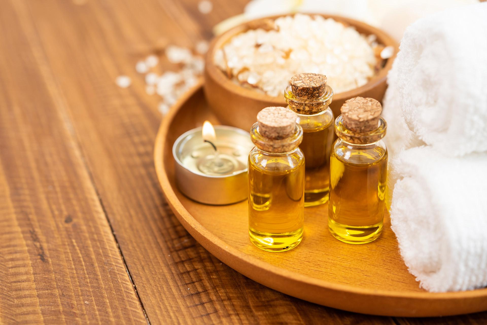 Plateau d'huile de massage